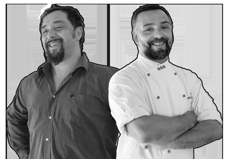 Tommaso e Federico Vatti ristorante pizzeria La Pergola